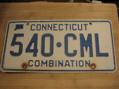 1997 Connecticut License Plate Expired 540 Cml