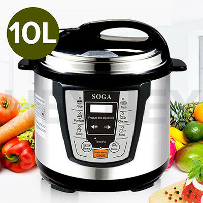 2016 Stainless Steel Electric Pressure Cooker 10L NonStick 1000W 1 YEAR WARRANTY