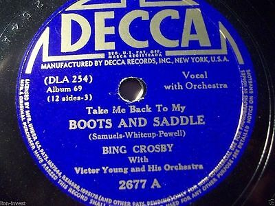 "BING CROSBY & ORCHESTRA VICTOR YOUNG ""Twilight On The Trail / Boots And Saddle"""