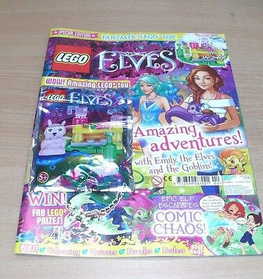 Lego Specials magazine Elves #5 2017 Colouring, Quizzes, Puzzles, Posters + Toy