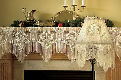Candle Light 4 Way by Heritage Lace, Mantle Scarf, multiple uses for Christmas