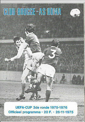 1975/76 UEFA Cup - CLUB BRUGGE v. AS ROMA