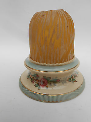 Clarkes * YELLOW & WHITE * Pyramid Fairy Lamp & TAYLOR TUNNICLIFFE Pottery Base