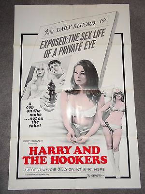 Harry And The Hookers Lindsay Shonteff Original Sexploitation Adult Film Poster