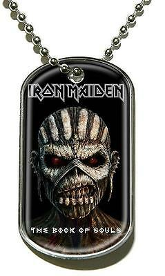 """Iron Maiden Dog Tag """"the Book Of Souls"""" - Necklace - Hundemarke - Halskette"""