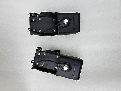 New Genuine Motorola Leather Holster Case Ntn8380B In Excellent Condition