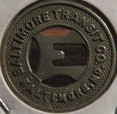 Very Old Baltimore, MD Transit Co. Trolley Employee Token - Maryland