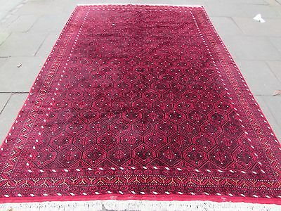 Old Hand Made Traditional Persian Rugs Oriental Wool Rich Red Carpet 313x216cm