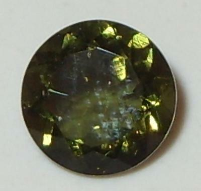 1.04ct Faceted TOP QUALITY Natural Czechoslovakia Moldavite Round Cut 7mm