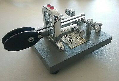 Vibroplex Iambic Deluxe Key for Ham Radio CW Morse w/ Oversize Paddles EXCELLENT