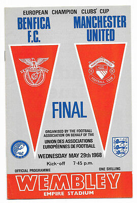 1968 European Cup Final - MANCHESTER UNITED v. BENFICA (original)