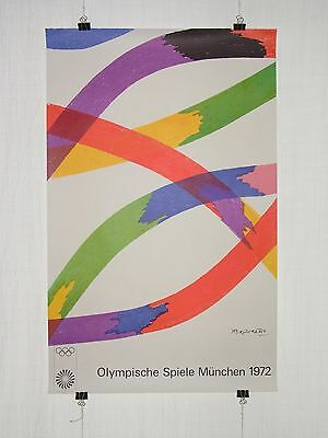 poster - Piero Dorazio - olympic games 1972 Munich München - original - pop art