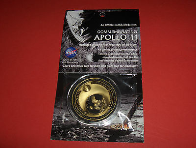 1969 Apollo 11 Nasa New Medaillon Flown Geflogenes Module Metall Moon Mond Space