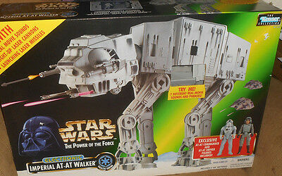 Vintage STAR WARS POTF ELECTRONIC IMPERIAL AT-AT WALKER MIB 1997
