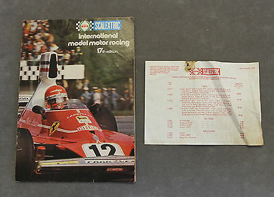 Vintage SCALEXTRIC 17th Edition Catalogue + RARE Original 1976 Price List