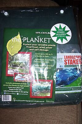the Planket Frost Protection Plant Cover 10'x20' Rectangular + Landscape Stakes