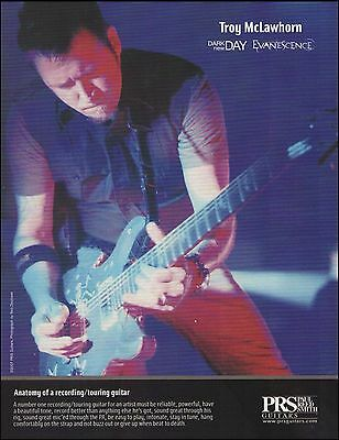 Troy McLawhorn Dark New Day Evanescence 2007 PRS guitar ad 8 x 11 advertisement