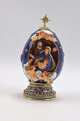 Collectible Christmas Christian Faberge Egg The Nativity with a Stand