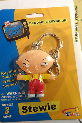 STEWIE BENDABLE KEYCHAIN NEW FREE 1ST CLASS MAIL 24 HR SHIP +  tracking RARE
