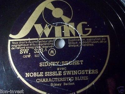 "SIDENY BECHET ""Characteristic Blues"" SWING 78rpm 10"""