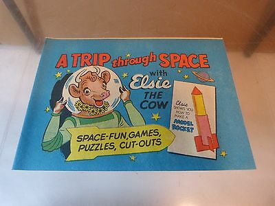 A Trip Through Space Promotional Comic with Elsie the Cow - Bordens - 1950's