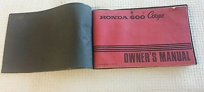 1972 Honda 600 OEM COUPE  Owner's Manual in Plastic cover
