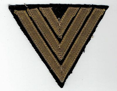 Genuine WWII German Corporal Chevron Rank Insignia Patch