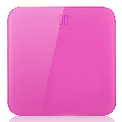180kg Digital Fitness Weight Bathroom Gym Body Glass LCD Electronic Scales Pink