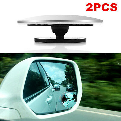 2PCS AdjustableCar Rearview Blind Spot Side Rear View Mirror Convex Wide Angle