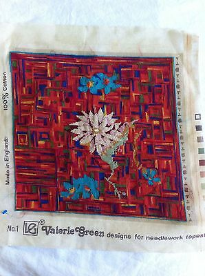 FANTASTIC VINTAGE  floral Completed CUSHION COVER ? Tapestry Needlepoint