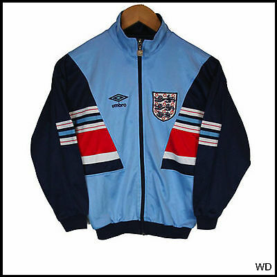 Vintage Original 1988 England Tracksuit Top Classic Football Xs 36