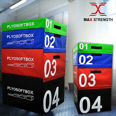 Plyometric Jump Box Soft Foam Velcro Fitness Crossfit Gym Training Jumping Set