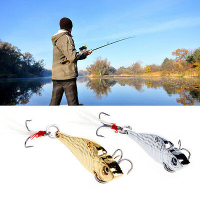 5cm 12.5g VIB Metal Spinner Spoon Fishing Lures Bass Crankbait Baits Tackle Hook