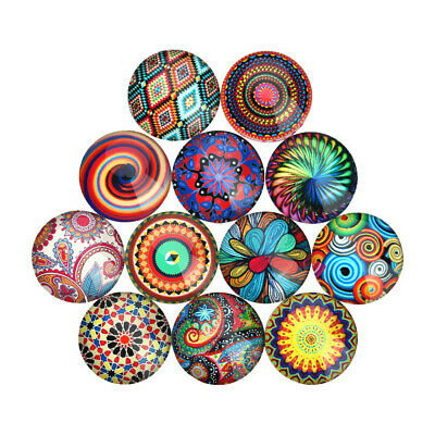 20x Assorted Flatback Glass DIY Round/Dome Cabochon for Jewelry Making Findings