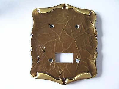 Rare Vintage Amerock Carriage House Brass Razor Outlet Plate Cover