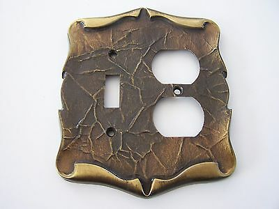 Vintage Amerock Carriage House Brass Combo Switch -  Outlet Plate Cover