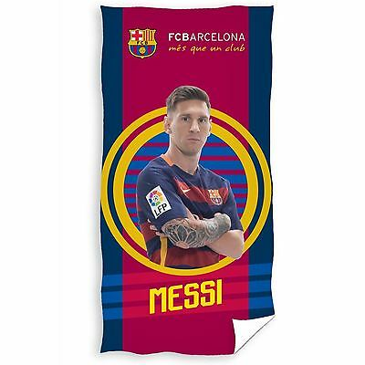 Fc Barcelona Lionel Messi Target Towel 100% Cotton Kids Official Free P+P New