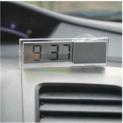 Useful white Auto Car Electronic Clock Liquid Crystal Display LCD  Timer Digital