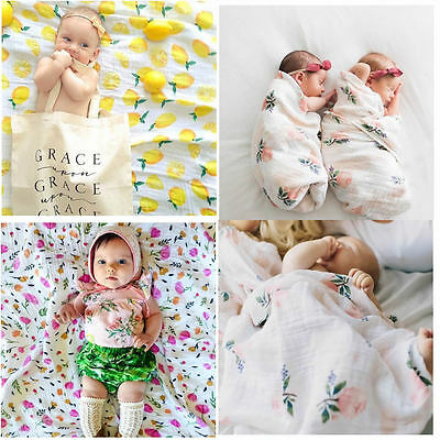 Infant Newborn Soft Blanket Muslin Baby Bedding Swaddling Swaddle Towel Props