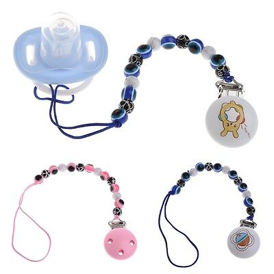 Blue Eye Baby Kids Pacifier Clip Chain Holders Dummy Soother Nipple Strap Gift