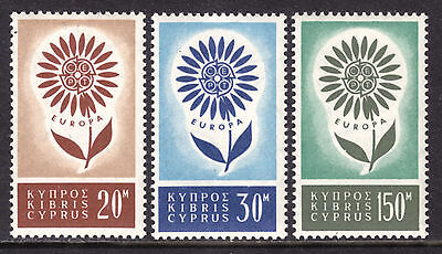 Cyprus #244-246, 1964 Europa Set/3, Vf, Mint Very Lh