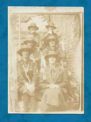 Small 1926 Photo Rangers At Widmerpool Weekend Camp 1926 - Girl Guides Notts