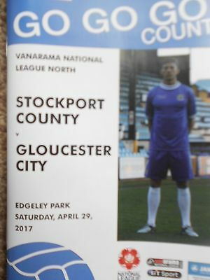 STOCKPORT COUNTY v GLOUCESTER CITY,29.4.2017.Last match.Great 66/67 Supplement