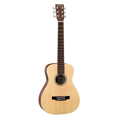 Martin LX1E Little Martin Acoustic Electric Guitar w/ Padded Gig Bag & Strap