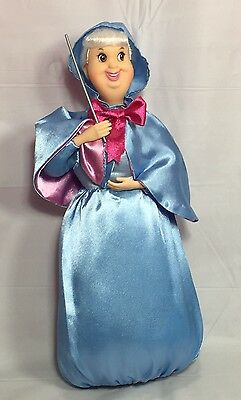 "Fairy Godmother Disney Store Exclusive 12"" H Doll Discontinued Cinderella"