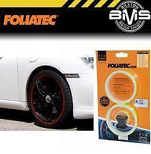 ORANGE FOLIATEC 6mm wide Wheel Rim Tape Pin Stripe + Applicator MC17/5(388)