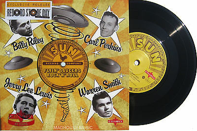 "SUN Rockabilly EP 7"" FLYIN SAUCERS ROCK 'N' ROLL JERRY LEE Record Store Day 2014"