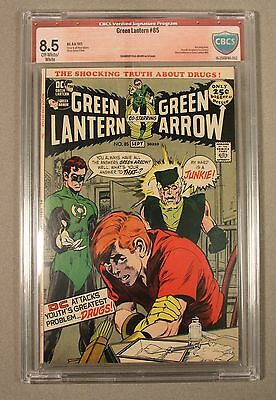 Green Lantern #85,  CBCS  8.5,  OW/W signature series: Neal Adams,1971