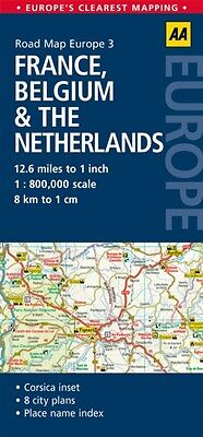 AA Road Map France, Belguim & the Netherlands (Road Map Europe 3) (AA Road Map .