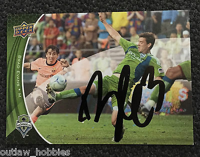 Seattle Sounders Brad Evans Signed Autographed 2010 MLS Topps Card B